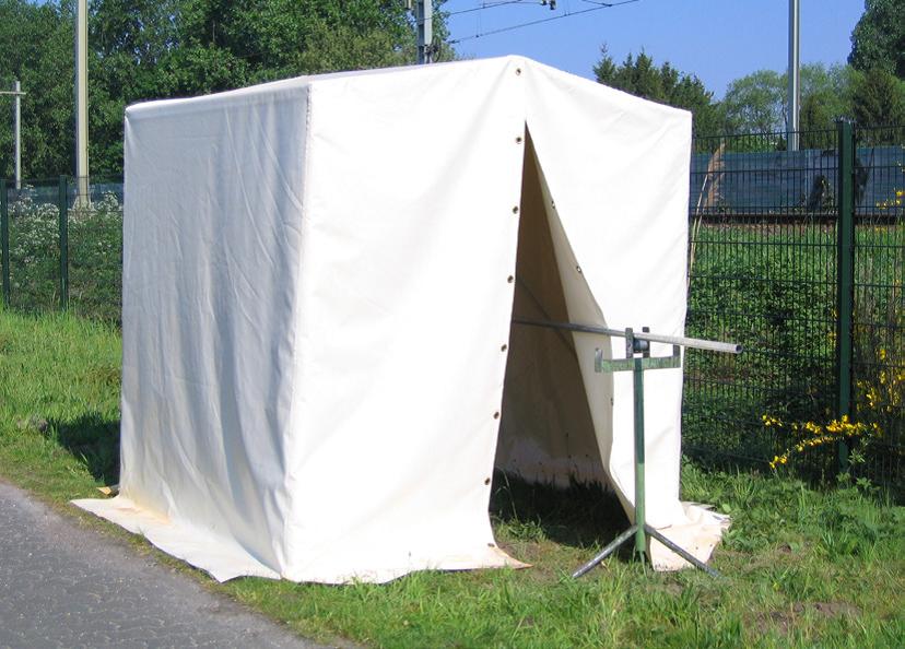 CEPRO keikkahitsarin teltta hitsarin hitsausteltta PVC työympäristötuotteet työympäristö hitsaus teknoexpertit maahantuonti runko
